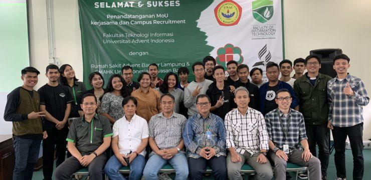 Kerjasama dan Campus Recruitment untuk Calon Wisudawan Fakultas Teknologi Informasi oleh RSA Bandar Lampung dan GMAHK Uni Indonesia Kawasan Barat