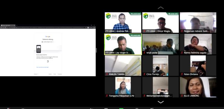 Pelatihan Google Classroom untuk Guru se-Uni Indonesia Kawasan Barat